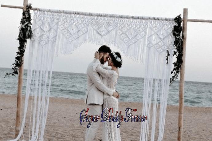 homme et femme au mariage