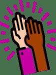 L'icône des mains qui s'affrontent indique la confiance