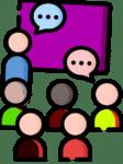 Icône de tableau noir avec l'enseignement de l'éducation des personnes